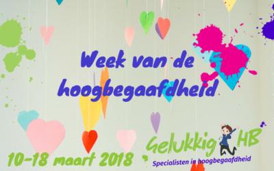 Week van de hoogbegaafdheid 10-18 maart